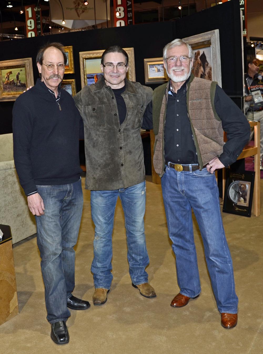 Artists Savides, John Banovich and Kent Ullberg - Savides Sculpture cabela banovich csonka ullberg