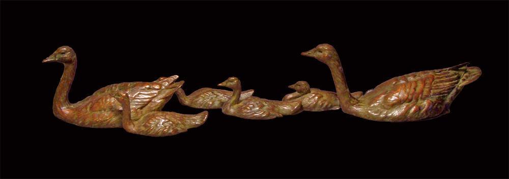 Canada Geese Family - Savides Sculpture Bird Sculpture Bird Statues