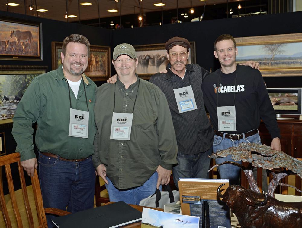 Dan Cabela, Rich Cabela, Savides and David Cabela - Savides Sculpture cabela banovich csonka ullberg