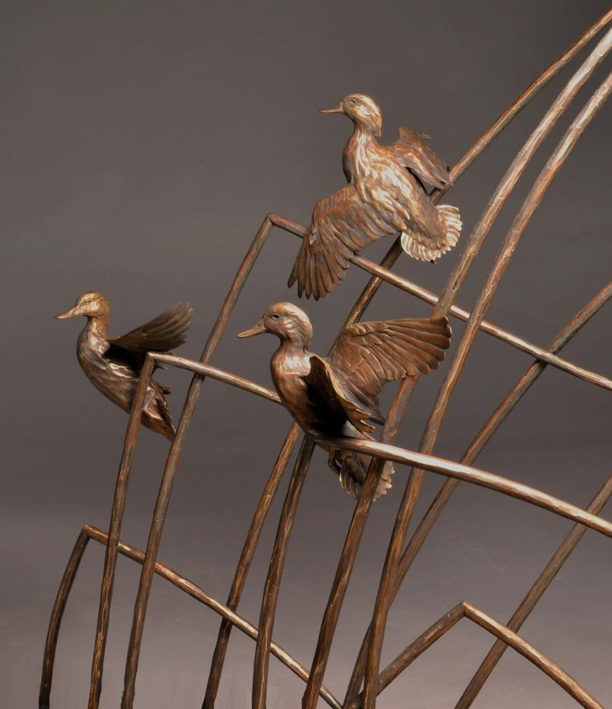 San Joaquin Legacy- San Luis National Wildlife Refuge <br> Los Banos, CA. - Savides Sculpture Sculpture Commissions One of a kind Sculpture