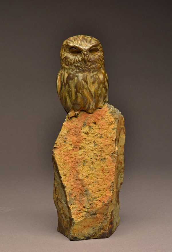 Elf Owl Original  Bronze Elf Owl Sculpture  Edition of 5  Size Varies 2 Available in Edition - Savides Sculpture Portfolio Collection