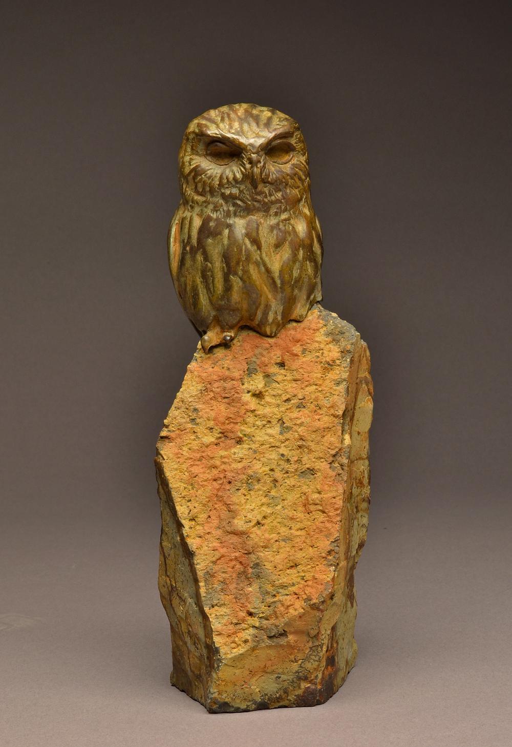 """Elf Owl Original"" Bronze Elf Owl Sculpture"