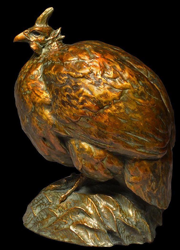 Helmeted Guinea Fowl - Savides Sculpture Bird Sculpture Bird Statues