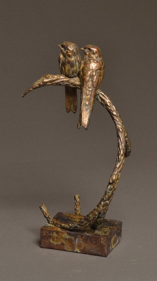 "Insect-Inside  Bronze Bank Swallow Sculpture  Edition of 35  14.5""h x 8""W x 6.5""D - Savides Sculpture Portfolio Collection"