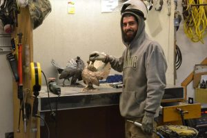 Joseph - Master Metal Worker - Savides Sculpture Sculpting Process Casting Process