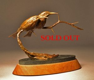 "Little Bee Eaters  Bronze Little Bee Eater Sculpture  Edition of 12   6.5"" H  x  8"" W  x  4"" D - Savides Sculpture Portfolio Collection"