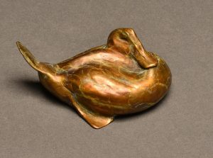 "Minitude  Bronze Ruddy Duck Sculpture  Edition of 75  2""H x 3""W x 3""D - Savides Sculpture Portfolio Collection"