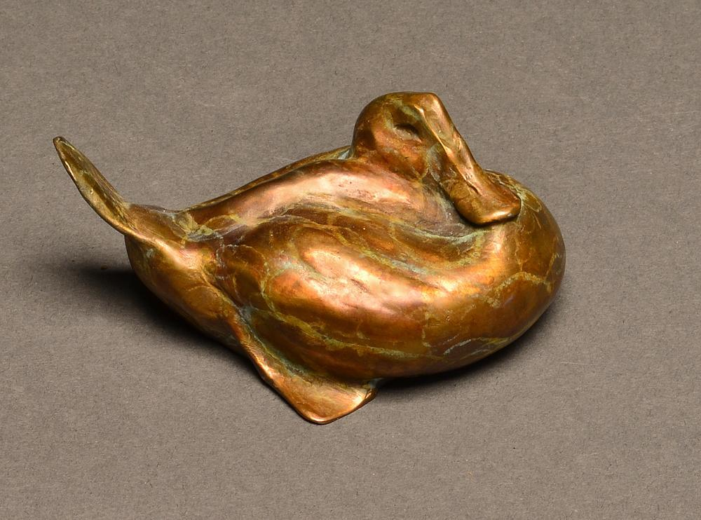 """Minitude"" Bronze Ruddy Duck Sculpture"