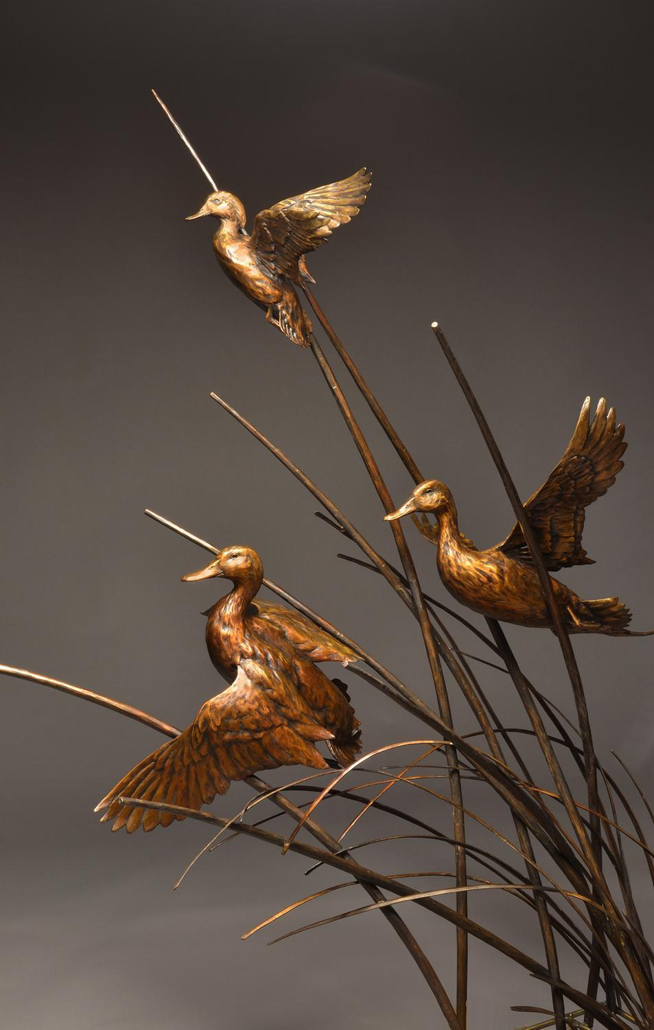Riverlands Migratory Bird Sanctuary <br> St. Louis, MO - Savides Sculpture Sculpture Commissions One of a kind Sculpture