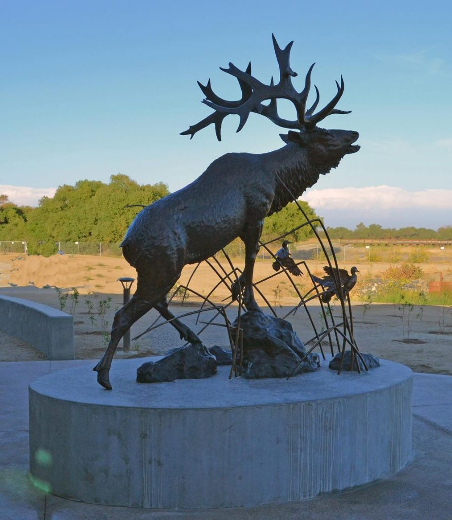 San Joaquin Legacy- San Luis National Wildlife Refuge <br> Los Banos, CA - Savides Sculpture Sculpture Commissions One of a kind Sculpture