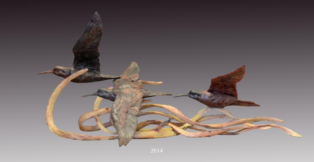 Shore Birds in Clay - Savides Sculpture New Sculpture Clay Sculpture