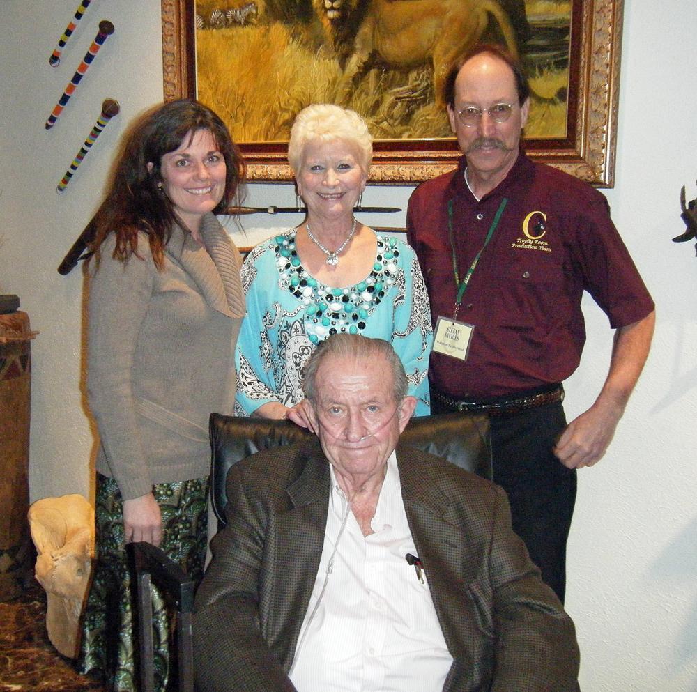 Stefan and Irena Savides pictured with Mary Cabela and Dick Cabela - Savides Sculpture cabela banovich csonka ullberg