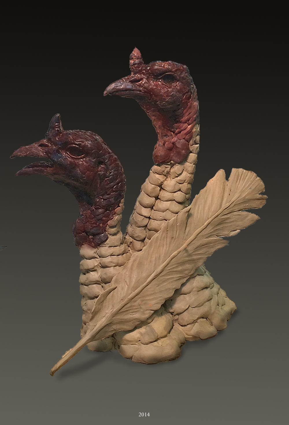 Turkey Bust in Clay - Savides Sculpture New Sculpture Clay Sculpture