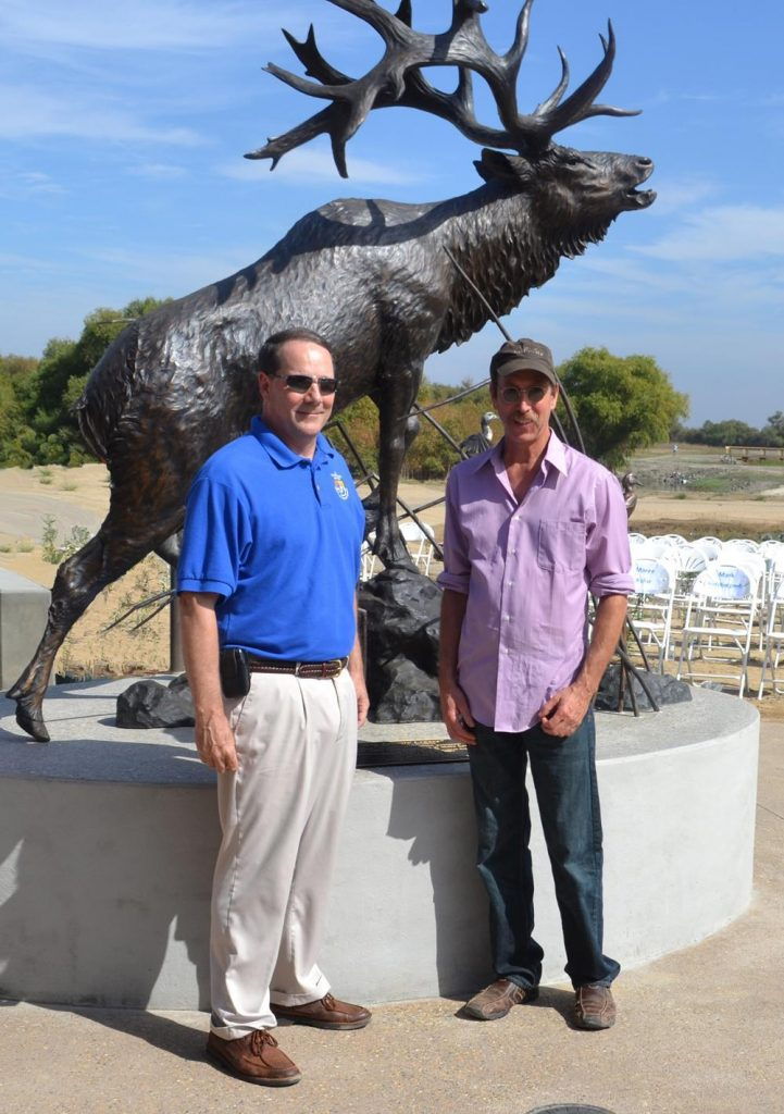 USF&W Refuge Chief James W Kurth and Savides - Savides Sculpture cabela banovich csonka ullberg