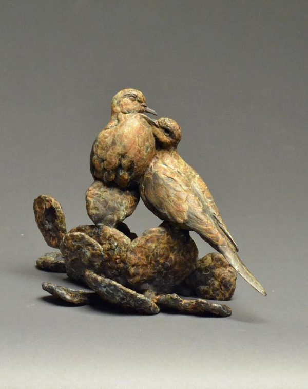 """We've Got Tonight"" Bronze Dove Pair Edition 35 10"" H x 14.5 W x 7""D"