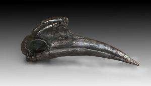 """Le Hu Tu Tu"" Bronze Abyssinian Ground Hornbill Sculpture 5"" H x 11.5"" W x 2.5"" D Limited Edition"