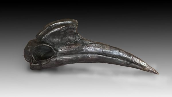 """Le Hu Tu Tu"" Bronze Abyssinian Ground Hornbill Sculpture 5"" H x 11.5"" W x 2.5"" D Limited Edition"