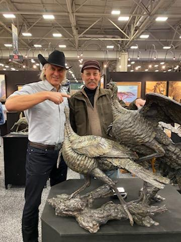 Stefan Savides with Jim Shockey an the 2020 Dallas Safari show