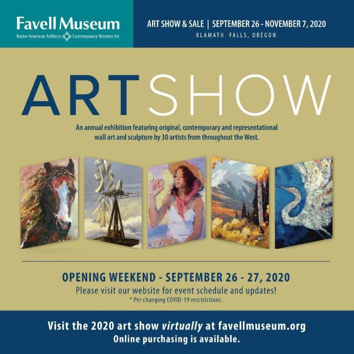 Favell Museum Art Show & Sale 2020 September 25-November 7, 2020