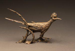"""""""Lizard Wizard"""" Bronze Roadrunner Sculpture Edition of 35 - 10"""" H x 14"""" W x 6"""" D"""