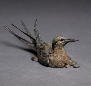 """Globe Trotter"" by Stefan Savides Bronze Arctic Tern - L/E 35 4"" H x 14"" W x 5"" D"